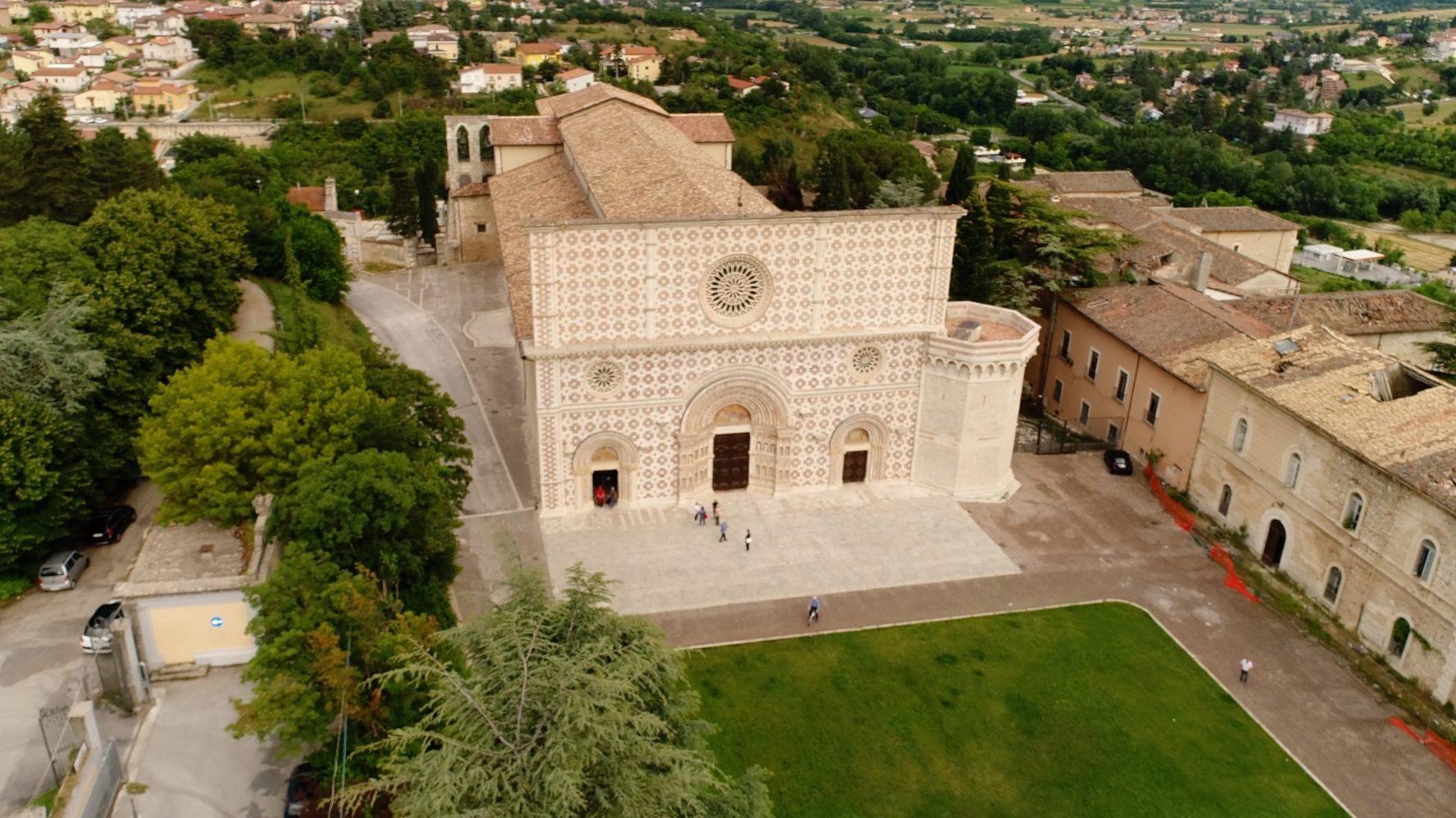riprese droni roma basilica chiesa l'aquila
