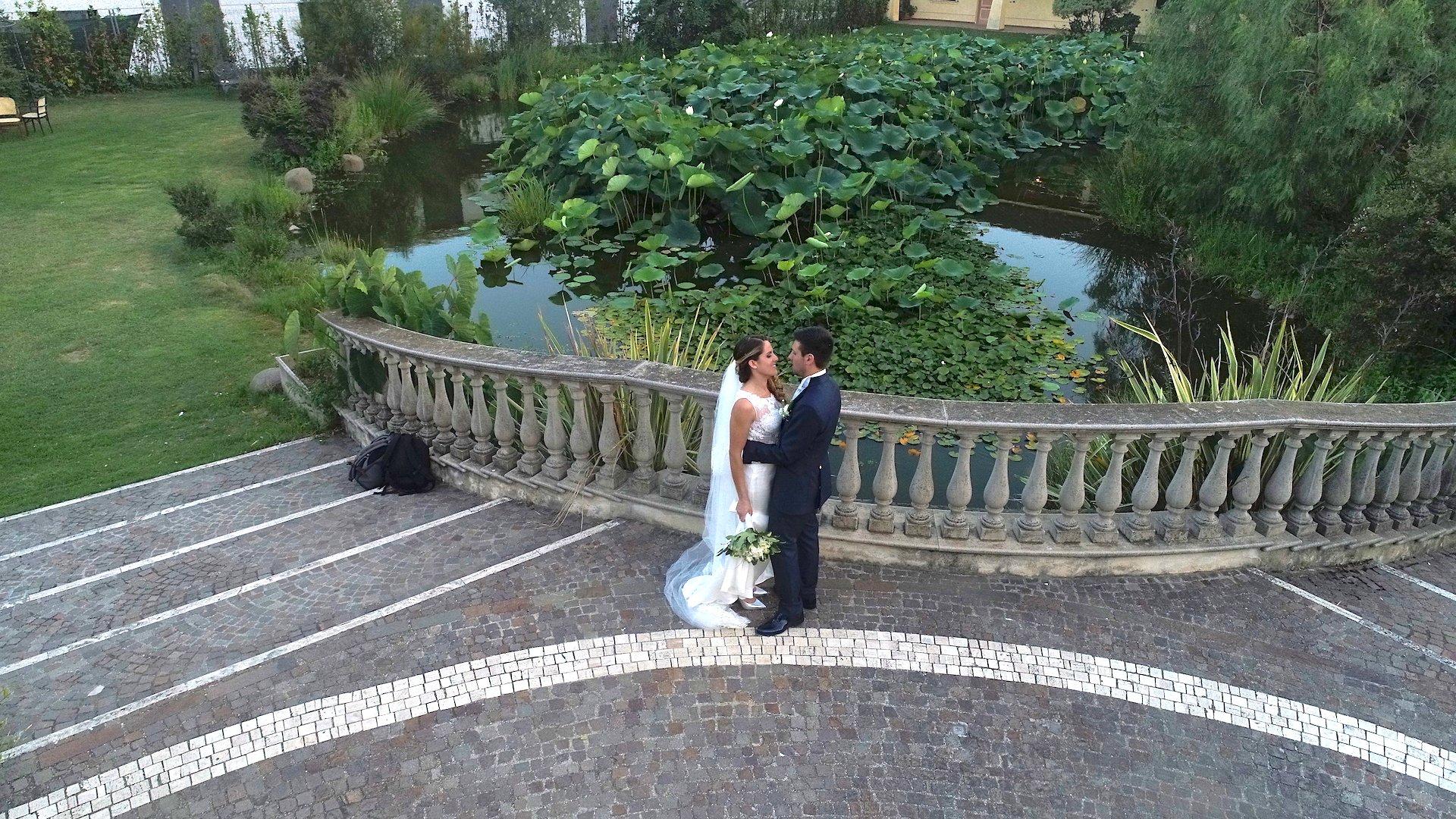 riprese droni roma matrimonio romantico