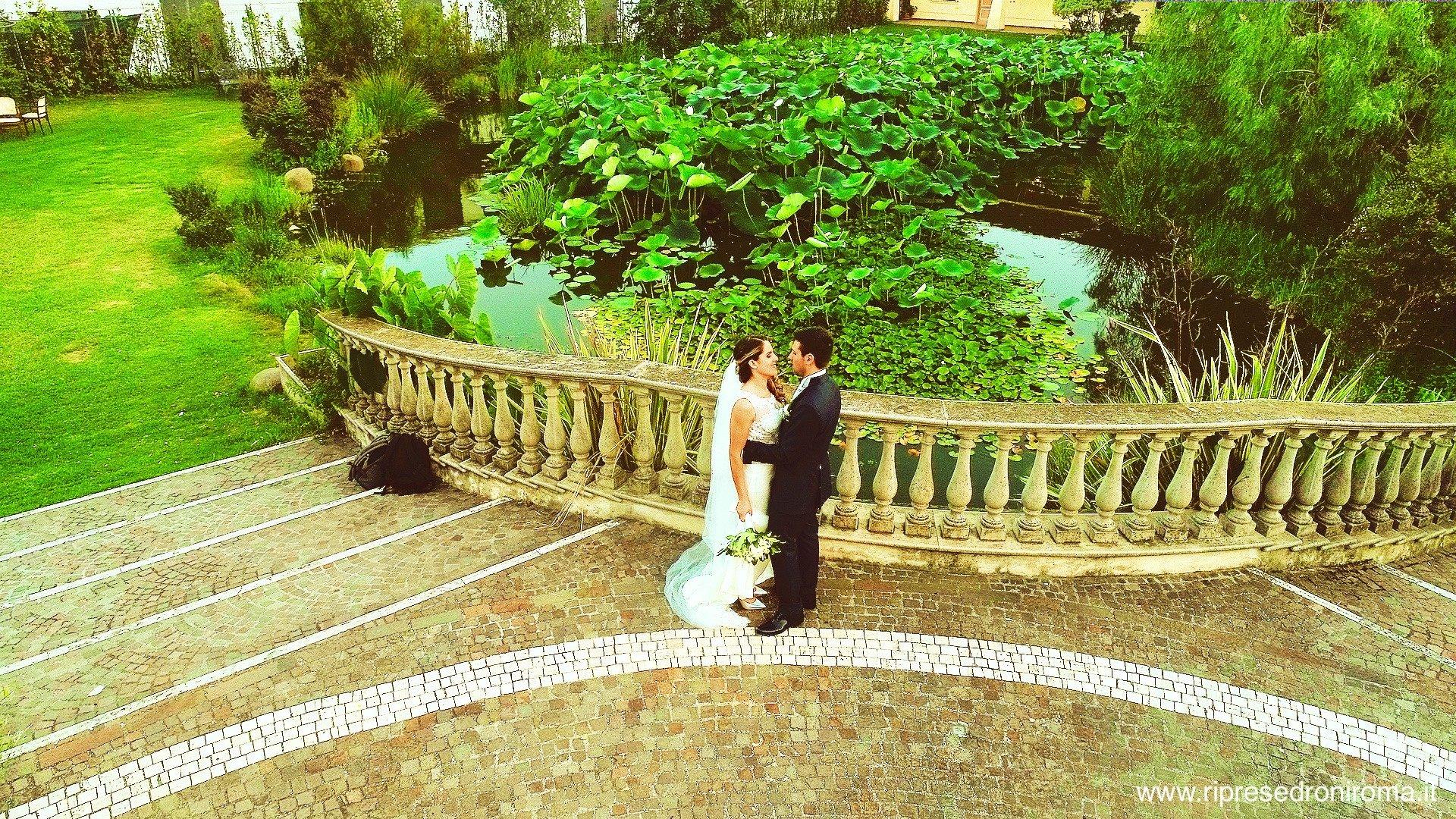 estratto da video con drone per matrimonio